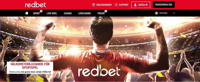 Redbet oddsbonus 2017 med 200 % gratisspel