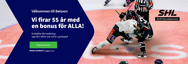 Få 2500 kr i Betsson oddsbonus 2019