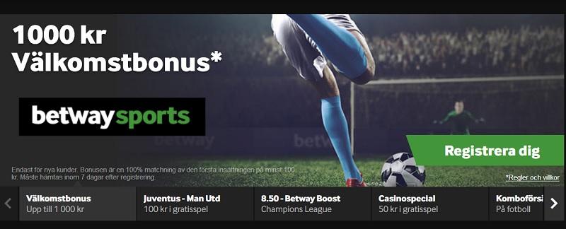 Betway Sports är en populär bettingsajt